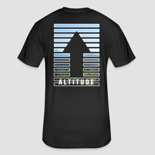Lift Off - Fitted Cotton/Poly T-Shirt by Next Level