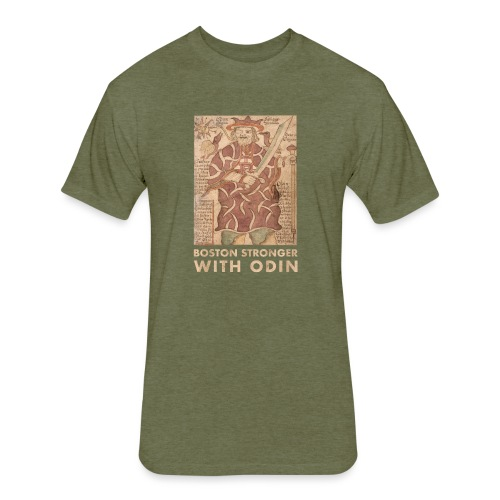 Boston Stronger with Odin - Fitted Cotton/Poly T-Shirt by Next Level