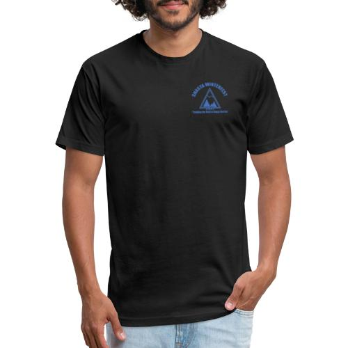 front and back logo - Fitted Cotton/Poly T-Shirt by Next Level