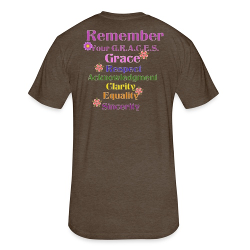 Remember Your GRACES - Fitted Cotton/Poly T-Shirt by Next Level
