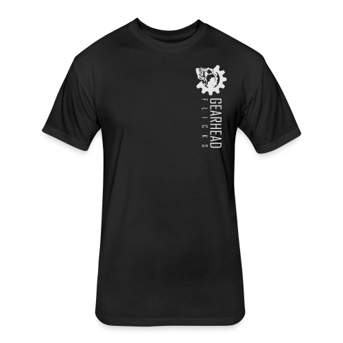 Gearhead Flicks logo white - Fitted Cotton/Poly T-Shirt by Next Level