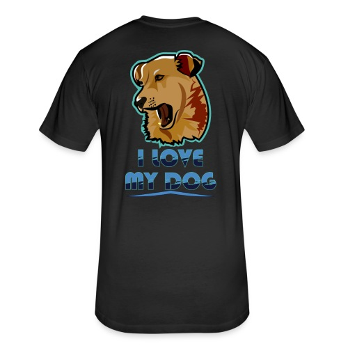 new T-shirt dog - Fitted Cotton/Poly T-Shirt by Next Level