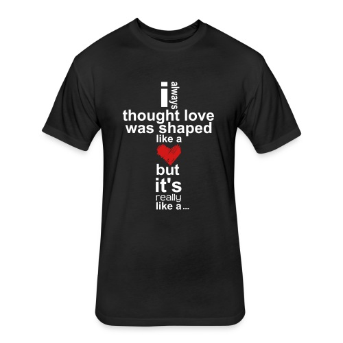 Cross Love - Fitted Cotton/Poly T-Shirt by Next Level
