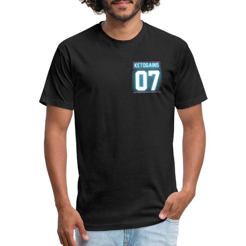 The House of Gains - Fitted Cotton/Poly T-Shirt by Next Level