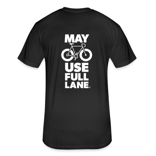 May use full lane large - Fitted Cotton/Poly T-Shirt by Next Level