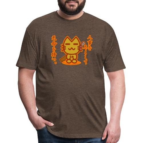 Samurai Cat - Fitted Cotton/Poly T-Shirt by Next Level