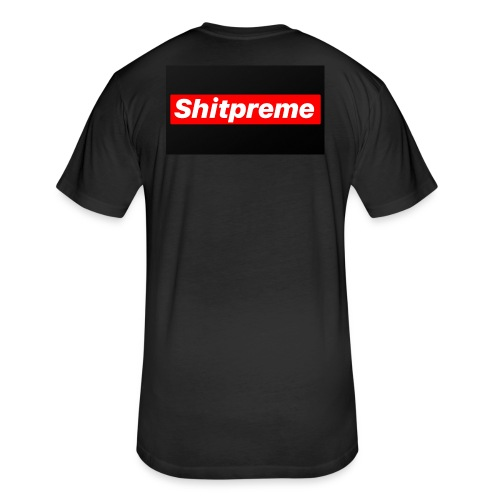 shitpreme - Fitted Cotton/Poly T-Shirt by Next Level