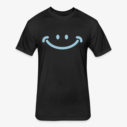 Happy Mug - Fitted Cotton/Poly T-Shirt by Next Level