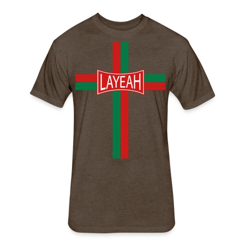 Portugy Cross Three - Fitted Cotton/Poly T-Shirt by Next Level
