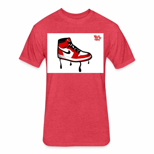 jordan jump man l - Fitted Cotton/Poly T-Shirt by Next Level