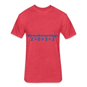 Red 2032 - Fitted Cotton/Poly T-Shirt by Next Level