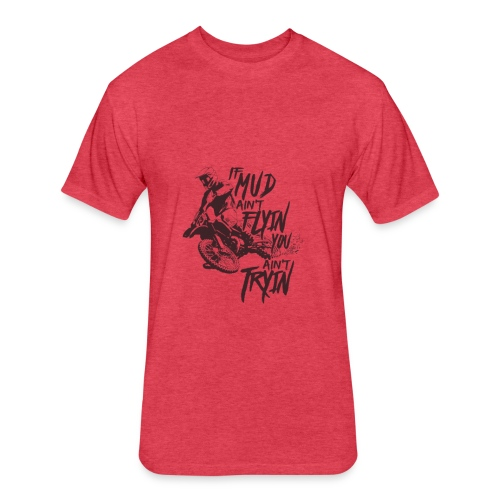 bikers design - Fitted Cotton/Poly T-Shirt by Next Level
