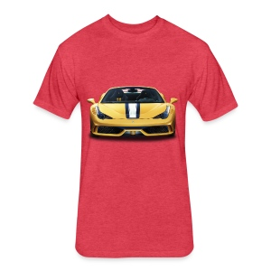 Ferrari 458 Speciale - Fitted Cotton/Poly T-Shirt by Next Level