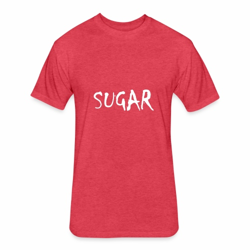 SUGAR - Fitted Cotton/Poly T-Shirt by Next Level