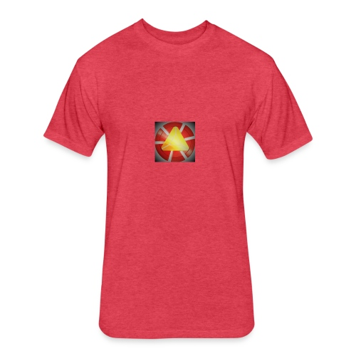 Iron Man Fidget Spinner Metal EDC Tri Spinner Fidg - Fitted Cotton/Poly T-Shirt by Next Level