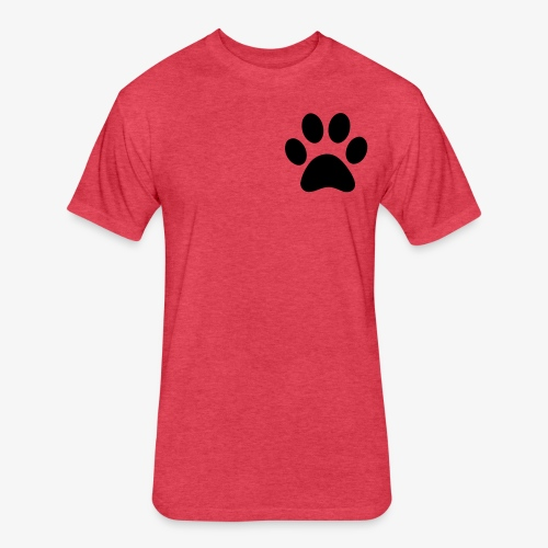 Paw print - Fitted Cotton/Poly T-Shirt by Next Level