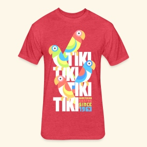 Tiki Room - Fitted Cotton/Poly T-Shirt by Next Level
