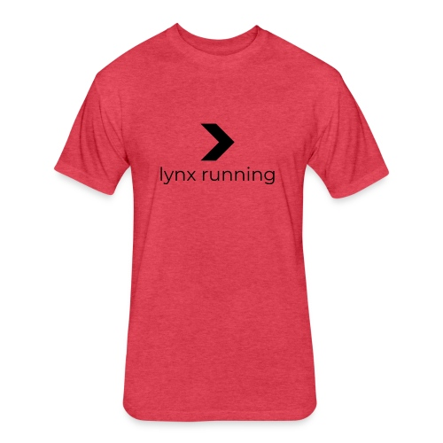 Lynx Running - Fitted Cotton/Poly T-Shirt by Next Level