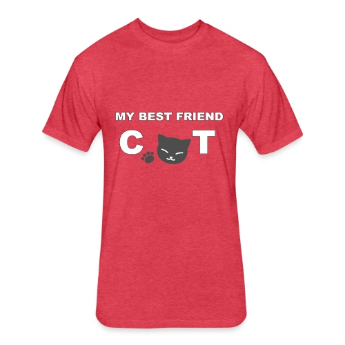MY BEST FRIEND CAT - Fitted Cotton/Poly T-Shirt by Next Level