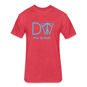 Drop Top Weatha logo Carolina Blue - Fitted Cotton/Poly T-Shirt by Next Level