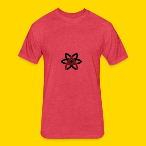 Atom Symbol - Fitted Cotton/Poly T-Shirt by Next Level