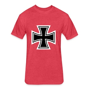 1200px German Cross svg - Fitted Cotton/Poly T-Shirt by Next Level