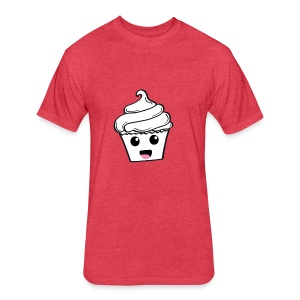 Happy Cupcakes - Fitted Cotton/Poly T-Shirt by Next Level