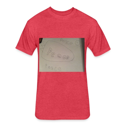 Peace roket - Fitted Cotton/Poly T-Shirt by Next Level