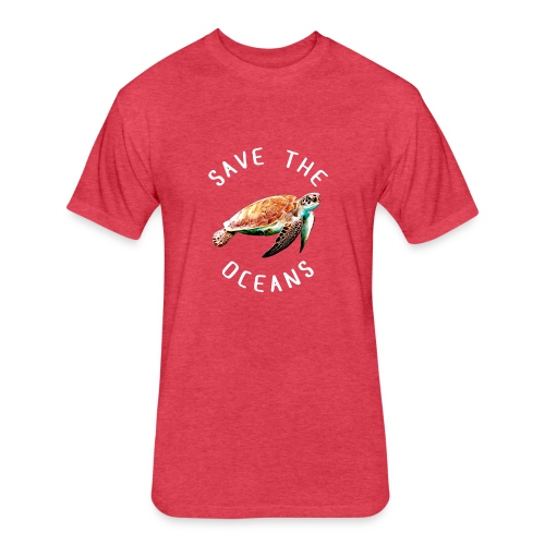 Save the oceans | Save the sea turtles - Fitted Cotton/Poly T-Shirt by Next Level