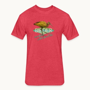 BIRDER - White-faced ibis - Carolyn Sandstrom - Fitted Cotton/Poly T-Shirt by Next Level