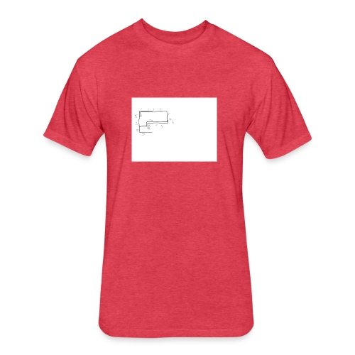 Sans titre - Fitted Cotton/Poly T-Shirt by Next Level