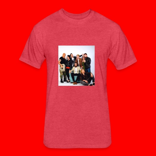 Savage Family Christmas Card - Fitted Cotton/Poly T-Shirt by Next Level