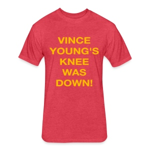 Vince Young's Knee Was Down - Fitted Cotton/Poly T-Shirt by Next Level