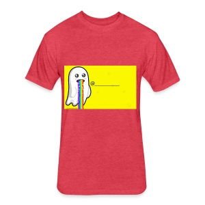 Snapchat - Fitted Cotton/Poly T-Shirt by Next Level