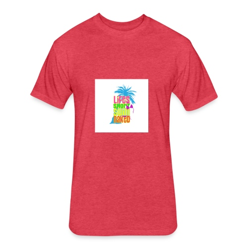 Help Support Beach Clean Up - Fitted Cotton/Poly T-Shirt by Next Level