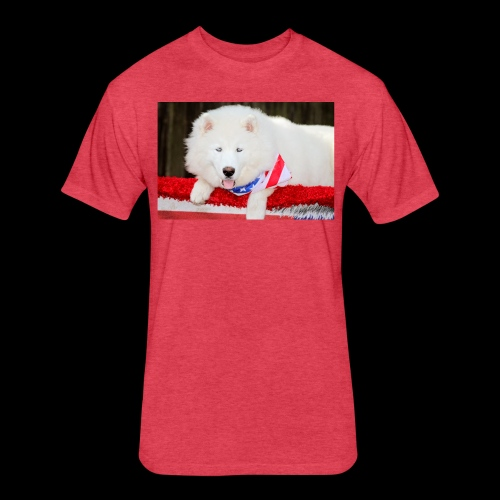 Beautiful Husky Puppy - Fitted Cotton/Poly T-Shirt by Next Level