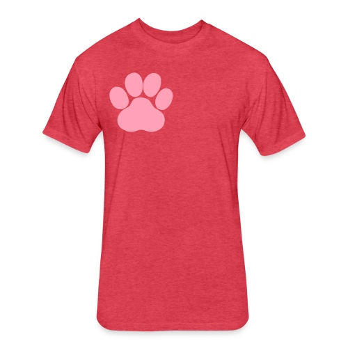 pawsitive - Fitted Cotton/Poly T-Shirt by Next Level