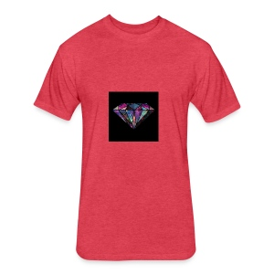 Diamondfashion - Fitted Cotton/Poly T-Shirt by Next Level
