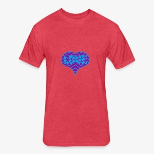 CHEVRON LOVE HEART - Fitted Cotton/Poly T-Shirt by Next Level
