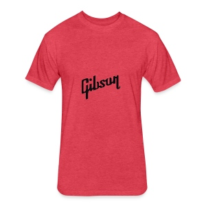 Gibson logo black - Fitted Cotton/Poly T-Shirt by Next Level