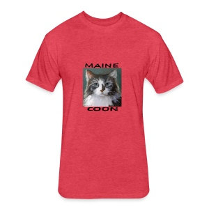 Maine Coon Cat - Fitted Cotton/Poly T-Shirt by Next Level