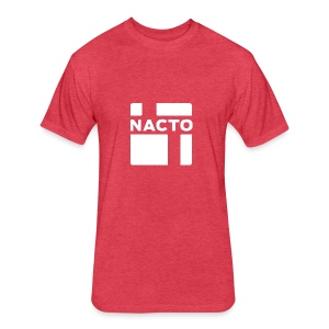 NACTO_logo_white - Fitted Cotton/Poly T-Shirt by Next Level