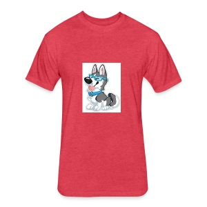 N3RDHusky - Fitted Cotton/Poly T-Shirt by Next Level