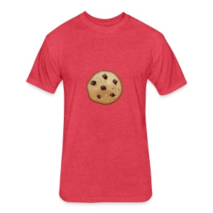 Chocolate Chip - Fitted Cotton/Poly T-Shirt by Next Level