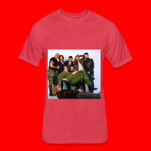 Savage Family Christmas Card P. 2 - Fitted Cotton/Poly T-Shirt by Next Level