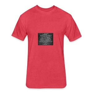 Inspirational Scripture Wear - Fitted Cotton/Poly T-Shirt by Next Level