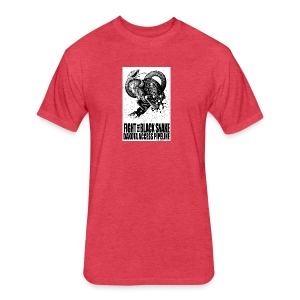 Fight the Black Snake NODAPL - Fitted Cotton/Poly T-Shirt by Next Level