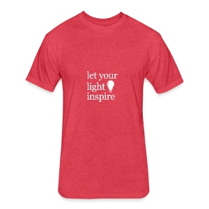 Let Your Light Inspire Tee (white font) - Fitted Cotton/Poly T-Shirt by Next Level