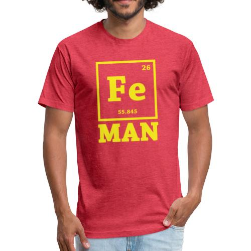 Iron Chemistry Man Science - Fitted Cotton/Poly T-Shirt by Next Level