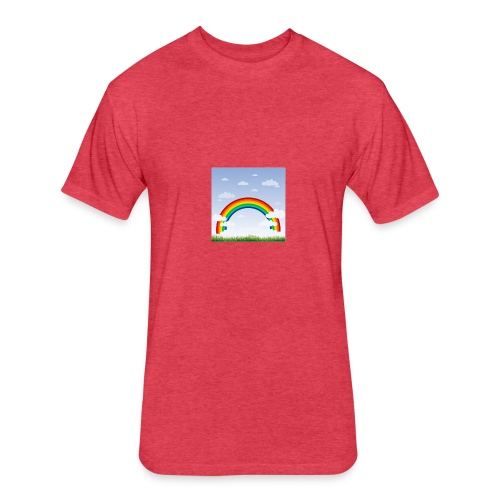 Sky Rainbow - Fitted Cotton/Poly T-Shirt by Next Level